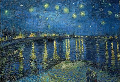 梵谷名作《隆河上的星夜》