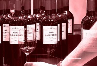 波尔多葡萄酒上的标签